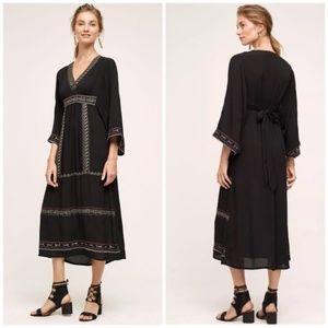 Anthropologie Blank Minivera Embroidered Dress